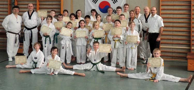 Taekwondo – Gürtelprüfung