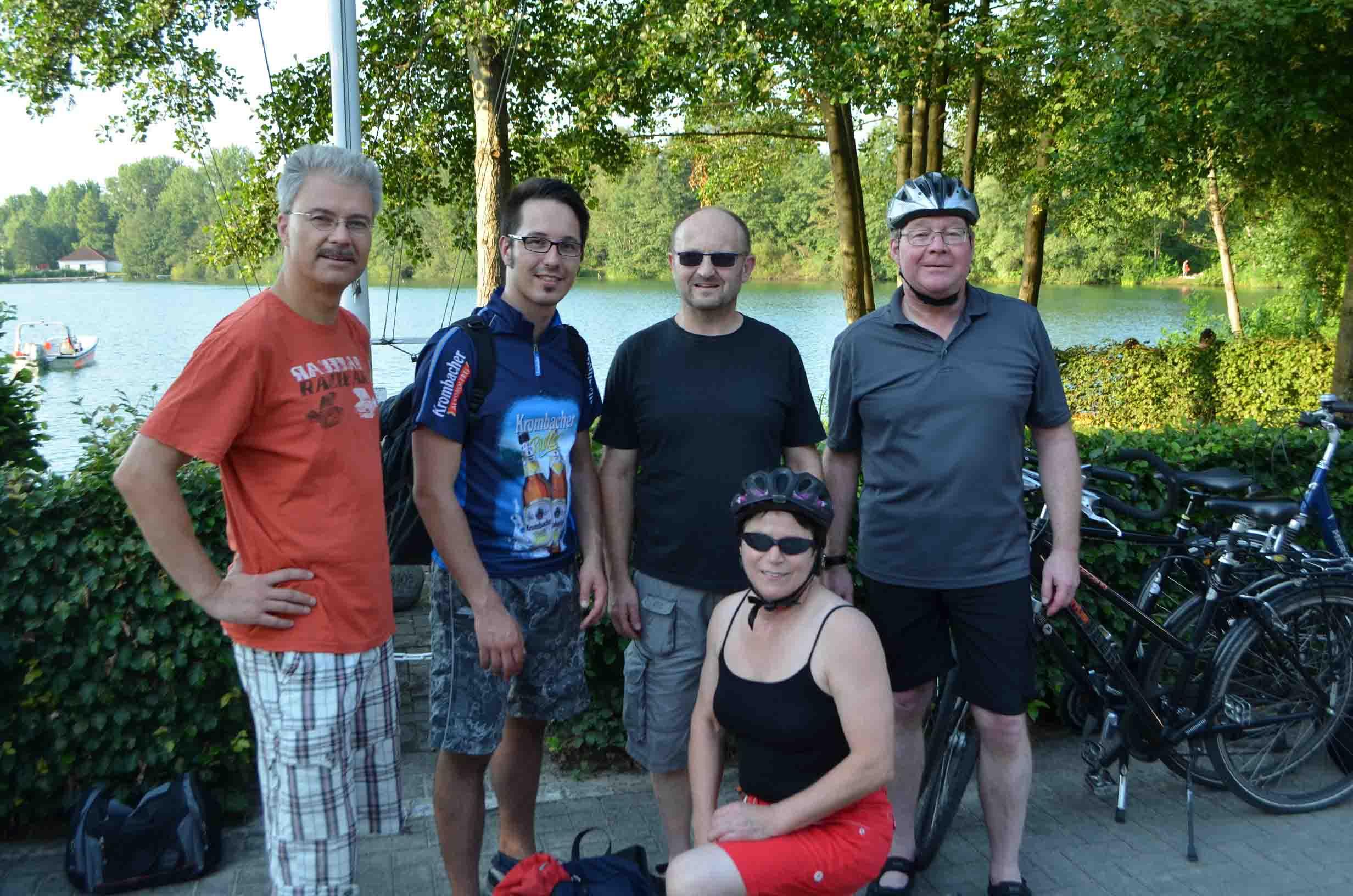 Fahrradtour zum Albersee und Konditionstraining im Wasser