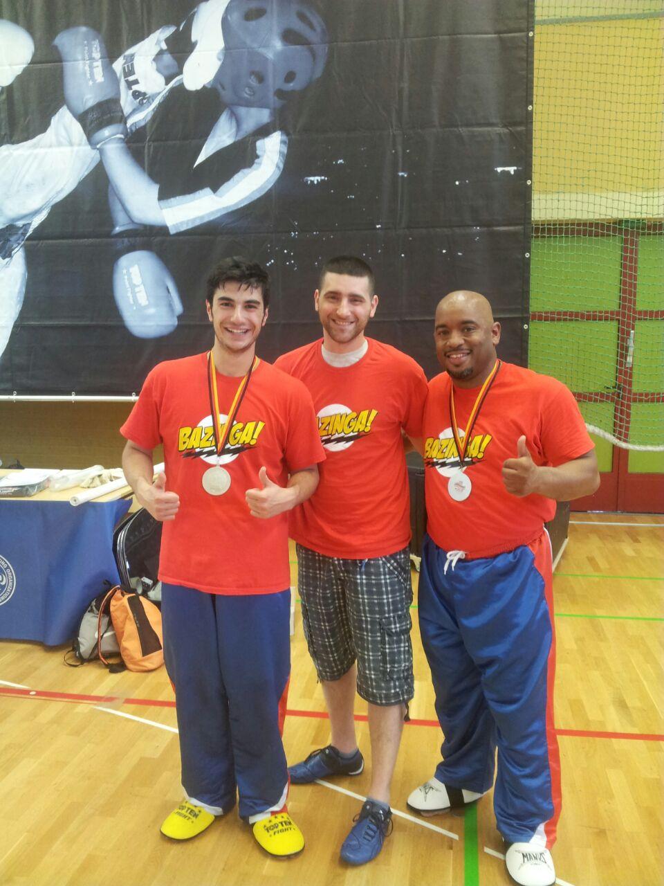 2-Mal Silber bei der Deutschen Meisterschaft im Kickboxen  in Berlin